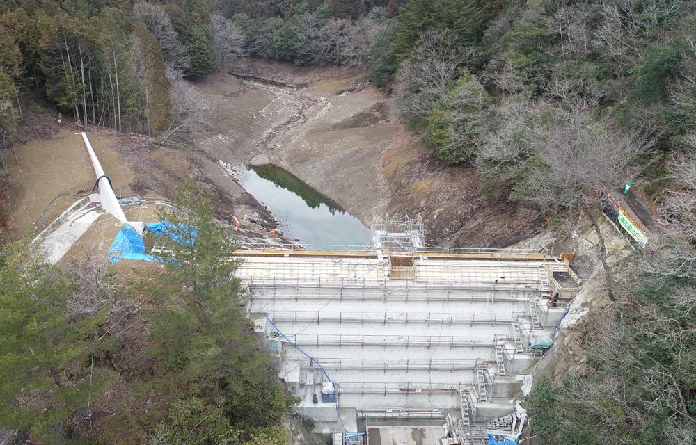 明神池ため池改修工事
